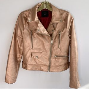 Metallic Rose Gold Jacket